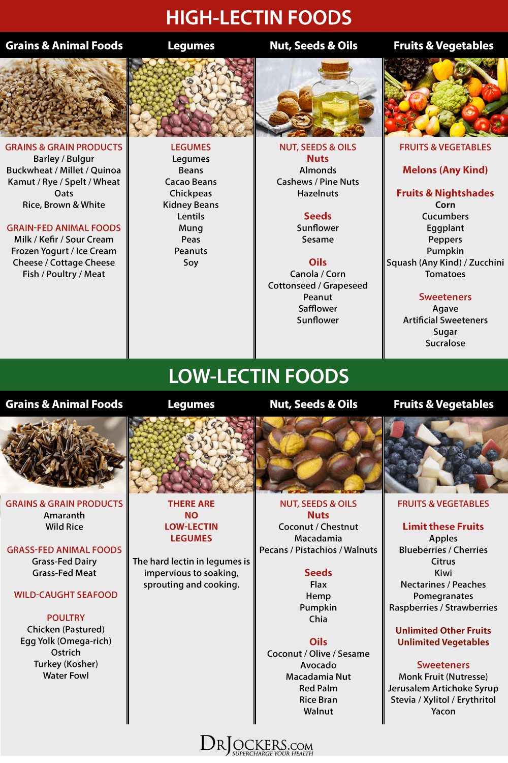 Foods Containing Lectins