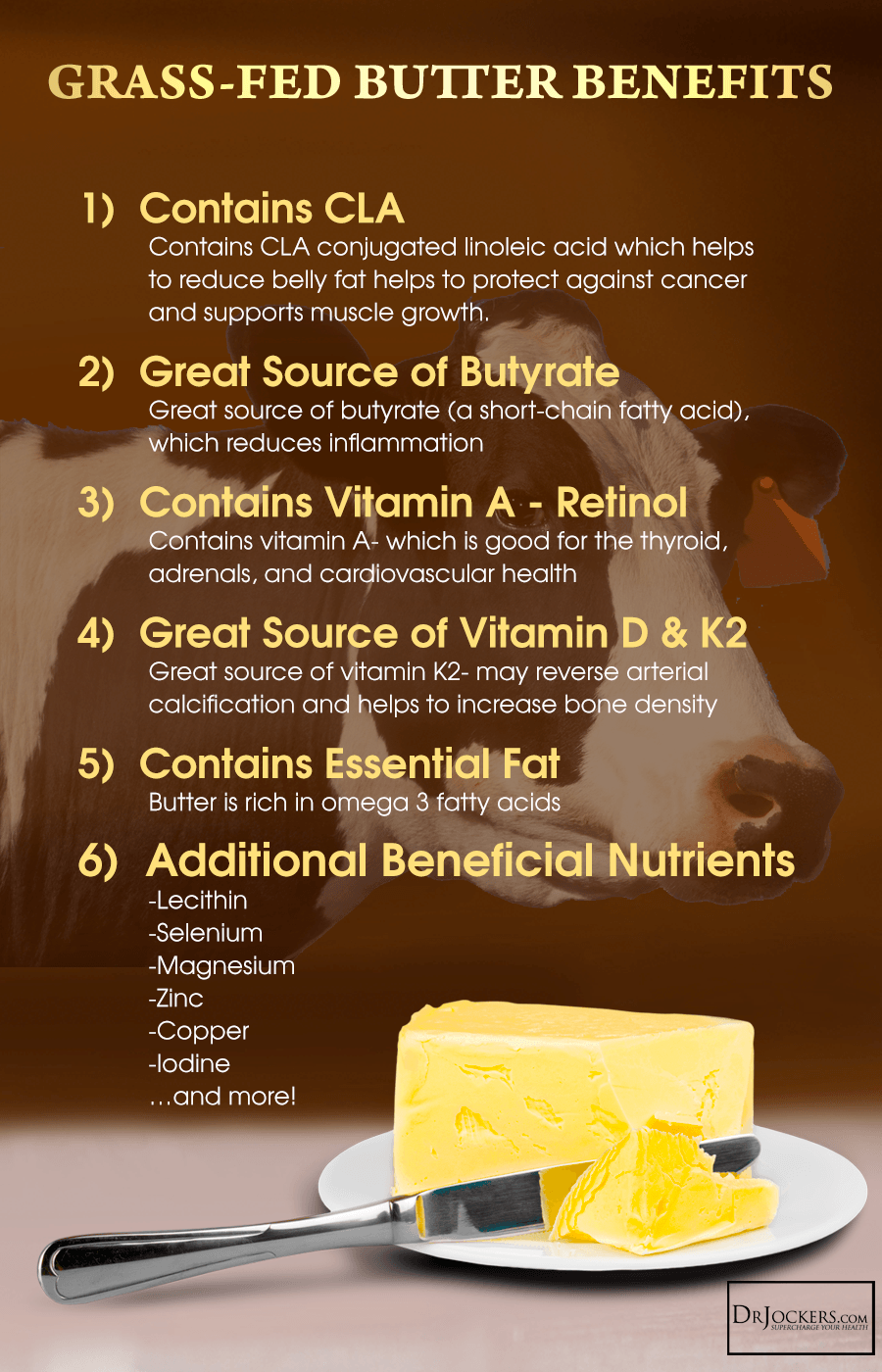 6 Health Benefits of Grass-Fed Butter