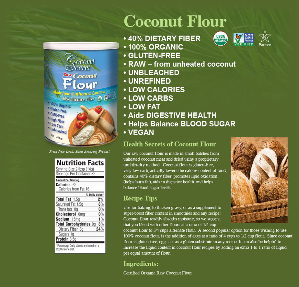 Coconut Flour, 10 Reasons to Bake with Coconut Flour