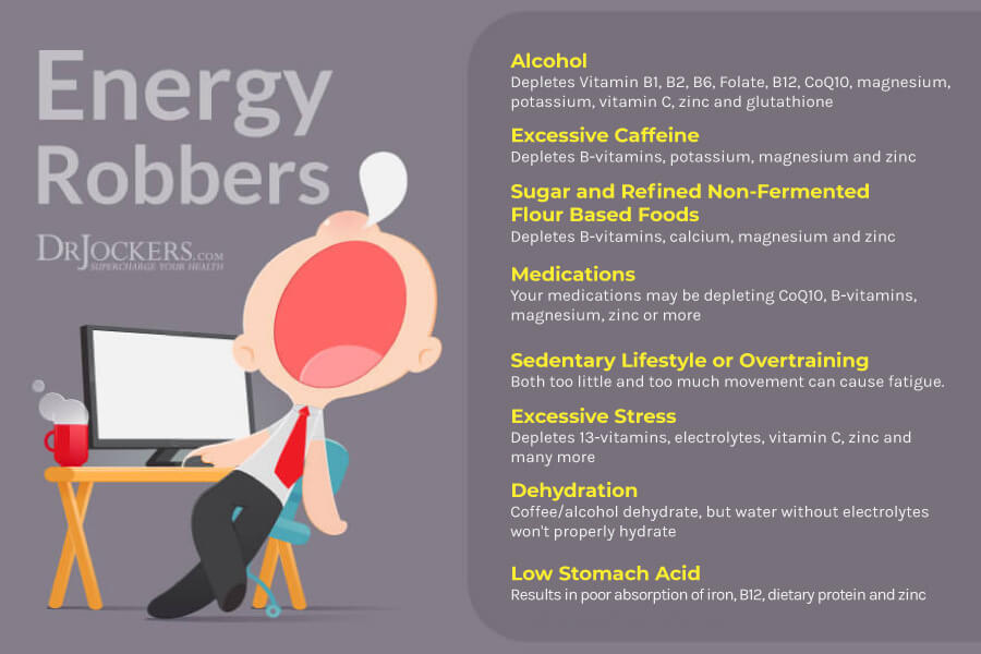 Low Energy, Low Energy:  8 Common Things That Rob Your Energy